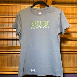 Under Armour gray short sleeve athletic top